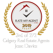 Top Rated Calgary Real Estate Agent Badge for Jesse  Davies verified on 2020-01-24 by Rate-My-Agent.com